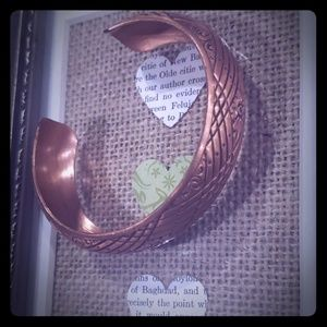 Vtg copper cuff bracelet